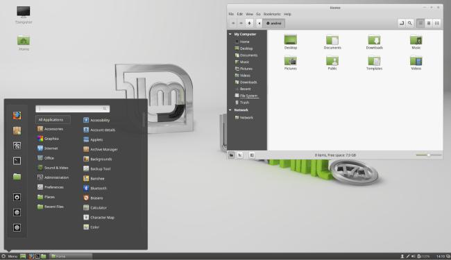 Linux Mint 17.1 Cinnamon Desktop