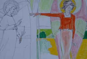 Draw and study the mural paintings of Phoebe Anna Traquair (1852-1936) @ Mansfield Traquair Centre   Edinburgh   Scotland   United Kingdom