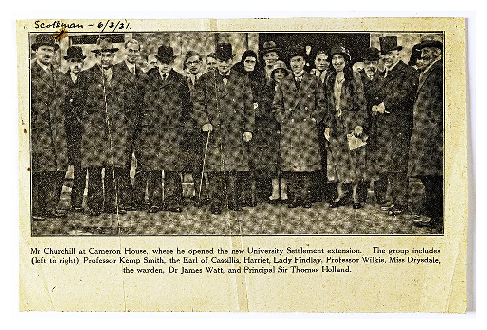 Winston Churchill opens Edinburgh Settlement