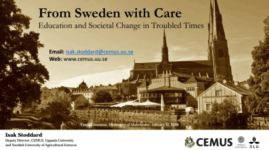 Click to Download a copy of the presentation slides of 'From Sweden With Care Tyndall Seminar'