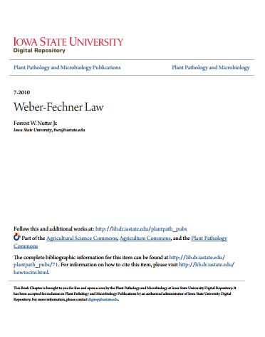Weber Fechner Law