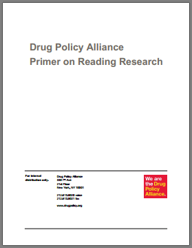Drug policy Alliance primer on reading research