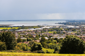 View of The Solent from Portsdown Hill