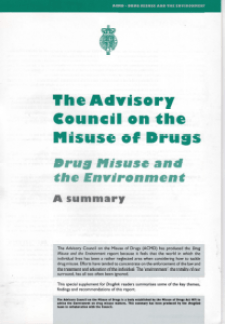 Drug Misuse and the Environment