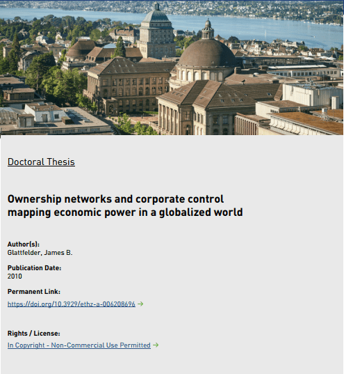 Click to Download: 'Ownership networks and corporate control mapping economic power in a globalized world'