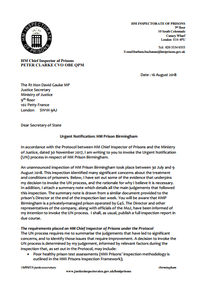 Click to Download: 'Urgent Notification HM Prison Birmingham'