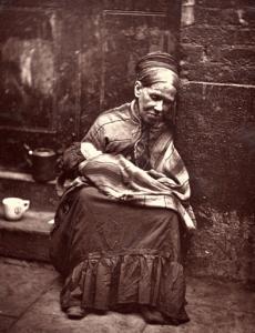 Poor woman in 1800s