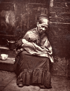 Poor woman in 1800s