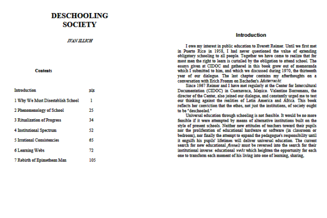 Click to Download: 'Deschooling Society by Ivan Illich'