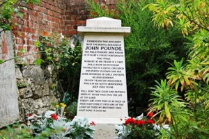 John Pounds Memorial Stone at Old Portsmouth