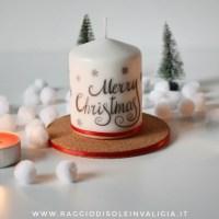 Candela decorativa natalizia