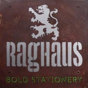 Raghaus Letterpress Retail Sign