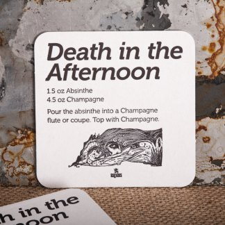 "Raghaus Studios ""Death in the Afternoon"" Hemingway beverage coaster"