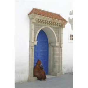 Beggar Sitting In Blue Door