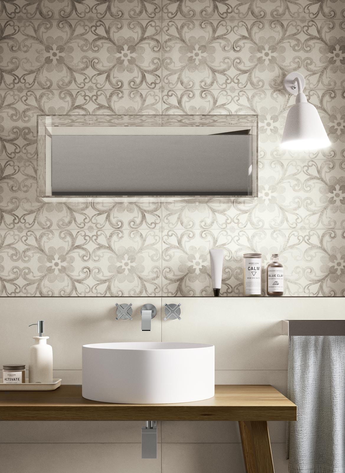 Collezione Rewind wall piastrelle di ceramica effetto cotto e cemento  Ragno