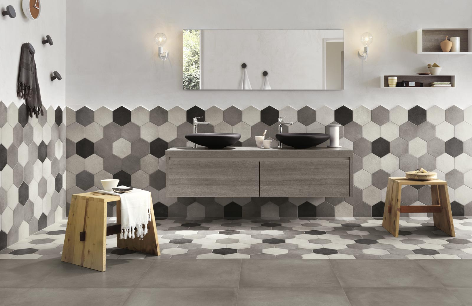Rewind Collection Concrete Effect Porcelain Stoneware  Ragno