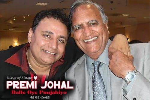 King of Bhangra Stage Johal Premi and Rahi Bains