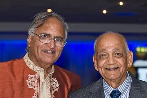 Rahi Bains with legendary poet and broadcaster Chaman Lal Chaman