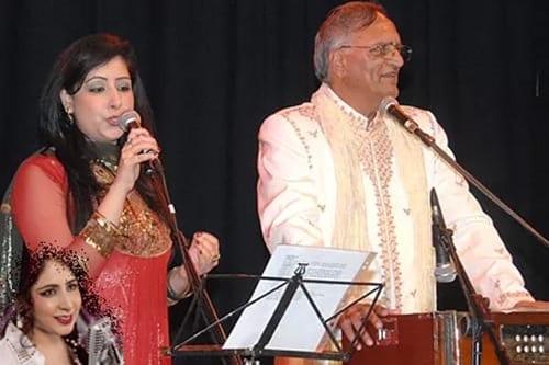 Sa Re Ga Ma Pa finalist Kiran Sachdev and Rahi Bains at Bollywood Nite, Treaty Centre, Hounslow