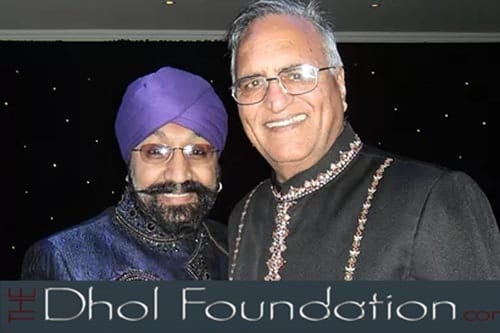 World Class Dhol player Johnny Kalsi of Dhol Foundation with Rahi Bains at an award function
