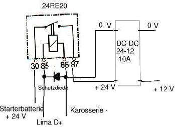 Spannungswandler mit 12 und 24 Volt Eingangsspannung