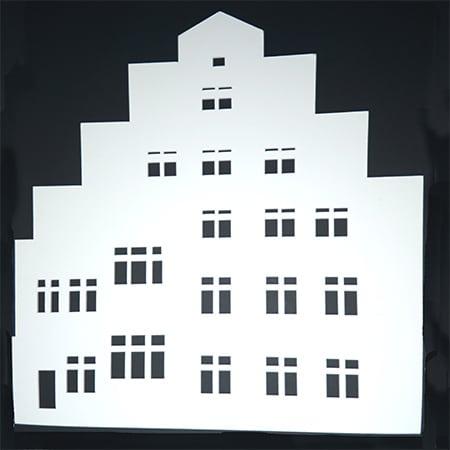 Schnittmuster Hausfassade