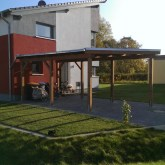 Carport in Sonderform