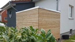 Gartenhaus mit Rhombus Schalung