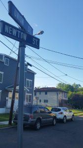 Newton Street sign