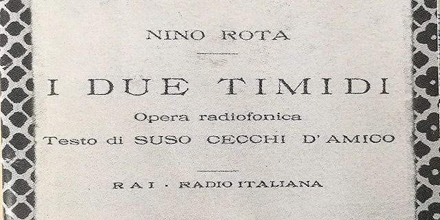 I due timidi, opera radiofonica di Nino Rota - WikiMusic del 18/11/2017 -  Rai Radio 3 - RaiPlay Radio