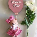 Porta Maternidade Balão Maria Flor