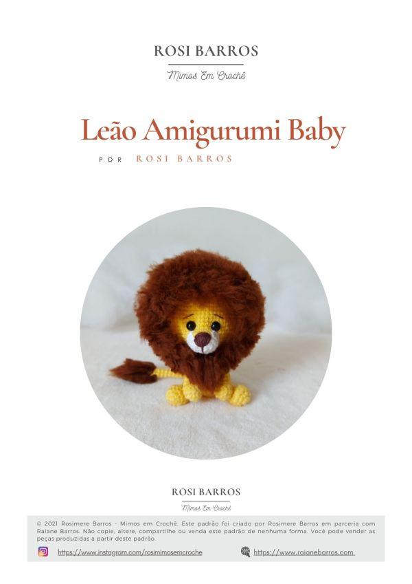 Leão Amigurumi Baby by Rosi Barros