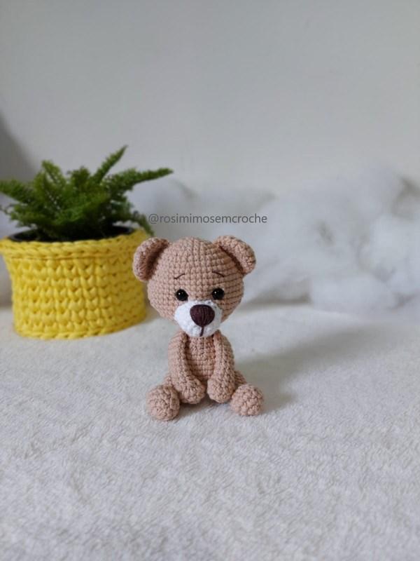 Ursinho Amigurumi Baby Sentado 1- Rosi Barros