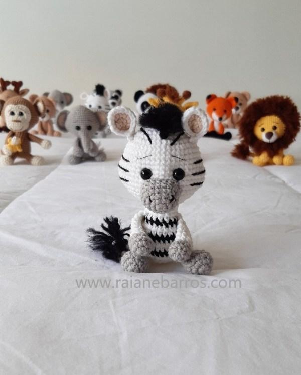 Zebra Amigurumi Baby Frente