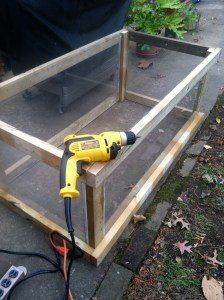The first Raíces cold frame, under construction.