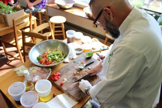 Chef Enrique was quick with his knife. Participants were happy to find out the next Common Ground workshop will be on knife skills.
