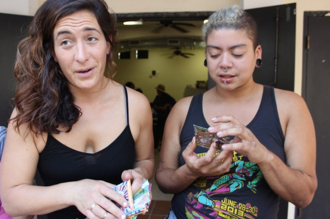 Sefra, The Seed Huntress, and Luz from the Queer Kitchen Brigade at the PR Resiliency Funds Seed Brigade.