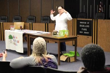 Angela presented a workshop on herbal pain relief.