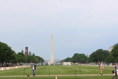 National Mall in the early morning before the 2017 People's Climate March