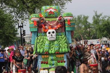 An Aztec altar.