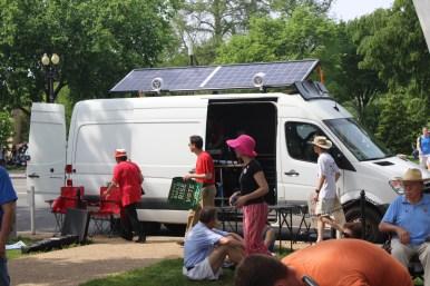 Solar van.