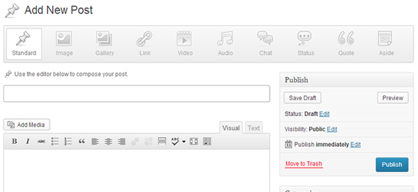 Wordpress 3.6 Post Format