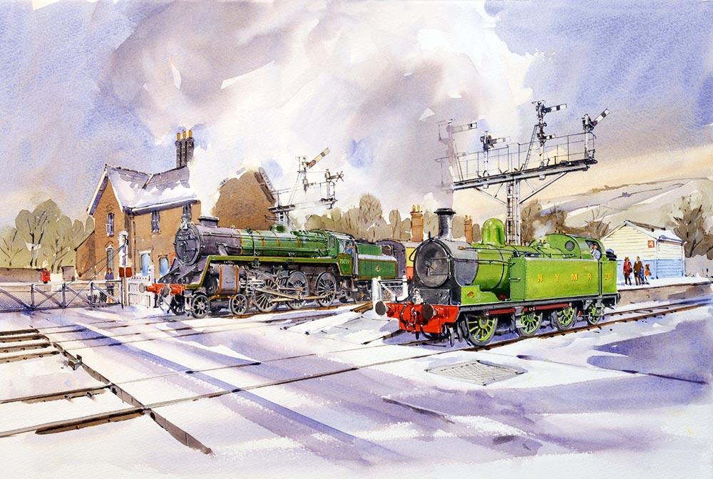 Railway Paintings By Artist David Charlesworth GRA