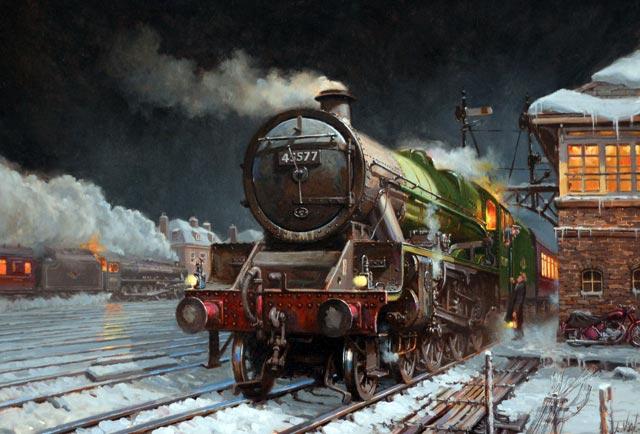 Artist David Noble Railway Scenes