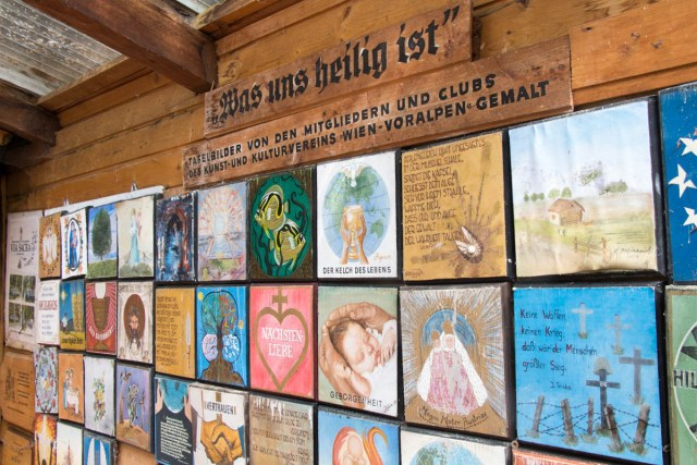 display in pilgrimage chapel