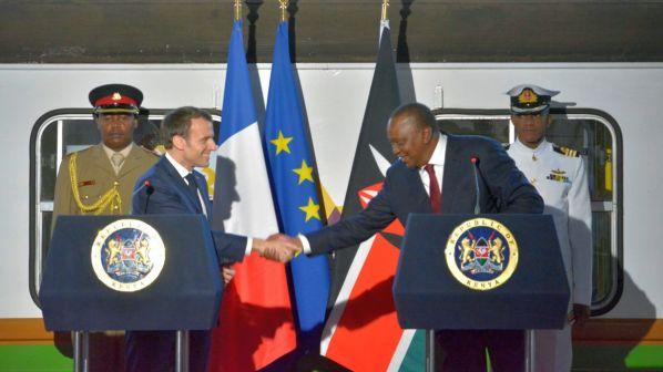 Macron and Kenyatta Nairobi