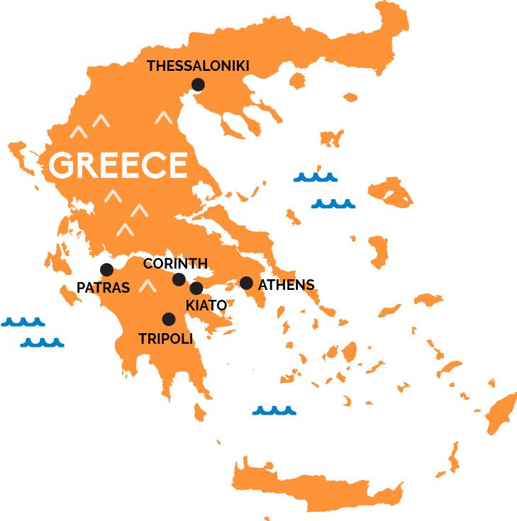 map of greece railpass