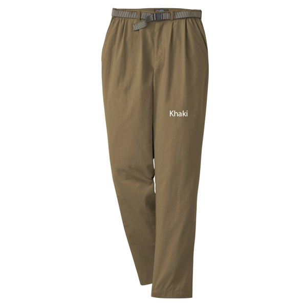 Khaki Women' Pants Travel Packable