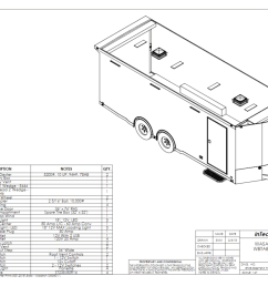 custom enclosed car trailers for race cars built with rail ryder features ryder utility trailer lights  [ 1024 x 788 Pixel ]