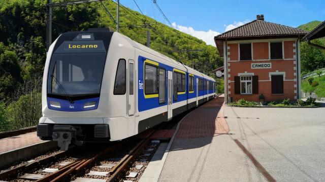 Rendering of Stadler's EMU for the Centovalli railway